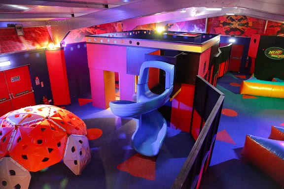 A view of the inside of Nerf Zone